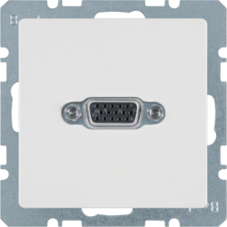 3315406089 VGA socket outlet Berker Q.1/Q.3, polar white velvety