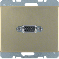3315409011 VGA socket outlet Berker Arsys,  light bronze matt,  lacquered