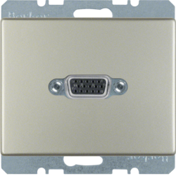 3315419004 VGA socket outlet with screw-in lift terminals,  Berker Arsys,  stainless steel matt,  lacquered