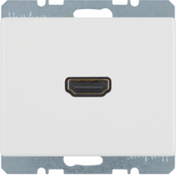 3315420069 High definition socket outlet Berker Arsys,  polar white glossy