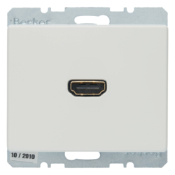 3315430069 High definition socket outlet with 90° plug connection Berker Arsys,  polar white glossy