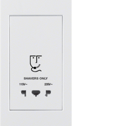 3344767009 Socket outlet without earthing contact for razors with screw terminals