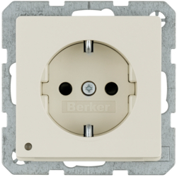 41096082 SCHUKO socket outlet with LED orientation light enhanced contact protection,  Screw-in lift terminals,  Berker Q.1/Q.3