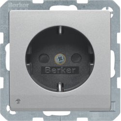 41096084 SCHUKO socket outlet with LED orientation light enhanced contact protection,  Screw-in lift terminals,  Berker Q.1/Q.3