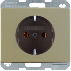 41140001 SCHUKO socket outlet with screw-in lift terminals,  Berker Arsys,  light bronze matt,  aluminium lacquered