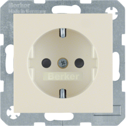 41238982 SCHUKO socket outlet with enhanced touch protection,  Screw-in lift terminals,  white glossy