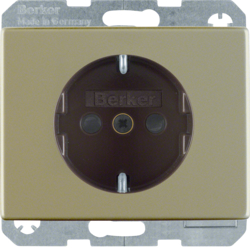 41340001 SCHUKO socket outlet with enhanced touch protection,  Screw-in lift terminals,  Berker Arsys,  light bronze matt,  aluminium lacquered