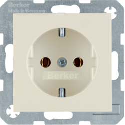 41438982 SCHUKO socket outlet with screw-in lift terminals,  Berker S.1, white glossy