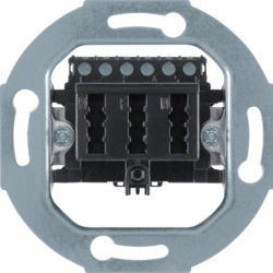 450005 TAE socket outlet 3x6 NFN Communication technology,  black matt