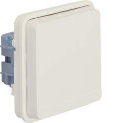 47063522 SCHUKO socket outlet insert with hinged cover surface-mounted/flush-mounted Berker W.1, polar white matt