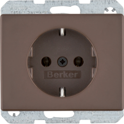 47150001 SCHUKO socket outlet Berker Arsys,  brown glossy