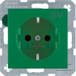 "47231903 SCHUKO socket outlet with ""SV"" imprint enhanced contact protection,  Berker S.1/B.3/B.7"