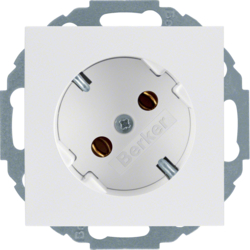 47271909 SCHUKO socket outlet 45° Berker S.1/B.3/B.7, polar white matt
