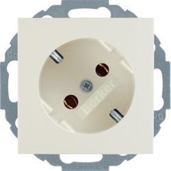 47278982 SCHUKO socket outlet 45° Berker S.1, white glossy