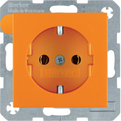 47431914 SCHUKO socket outlet Berker S.1/B.3/B.7, orange matt