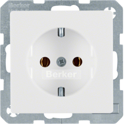 47436089 SCHUKO socket outlet polar white velvety