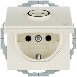 47446042 SCHUKO socket outlet with hinged cover with enhanced touch protection