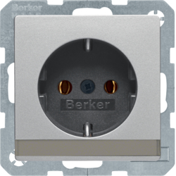 47506084 SCHUKO socket outlet with labelling field,  Berker Q.1/Q.3