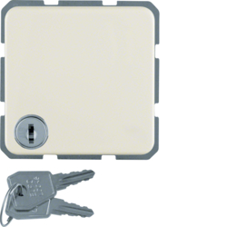 4763 SCHUKO socket outlet with hinged cover Lock - differing lockings,  Splash-protected flush-mounted IP44, white glossy