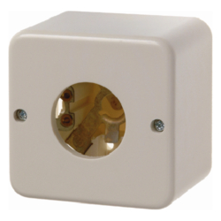 510040 Surface-mounted push-button/pilot lamp E10, NO contact Surface-mounted,  white glossy