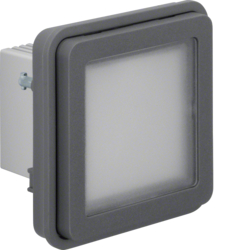 51733535 Insert of LED signal light,  blue lighting surface-mounted/flush-mounted Berker W.1, grey matt