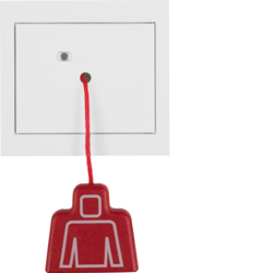 52027009 Pullcord push-button with frame Berker K.1, polar white glossy