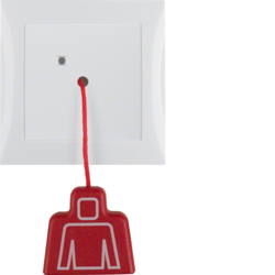 52028989 Pullcord push-button with frame Berker S.1, polar white glossy