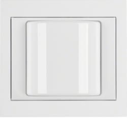 52037009 Light signal with frame Berker K.1, polar white glossy