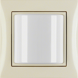 52038982 Light signal with frame Berker S.1, white glossy
