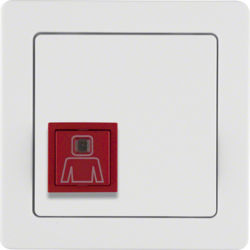 52066089 Call button with frame Berker Q.1, polar white velvety