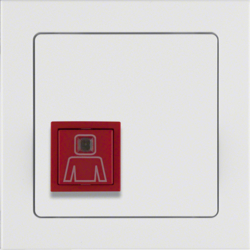 52066099 Call button with frame Berker Q.3, polar white velvety