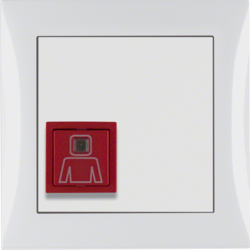 52068989 Call button with frame Berker S.1, polar white glossy