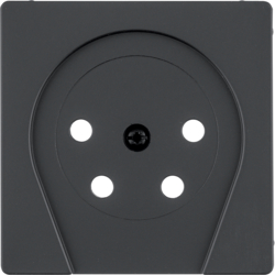 "6110366086 Centre plate for PTT socket outlet ""Netherlands"" Berker Q.1/Q.3/Q.7/Q.9"