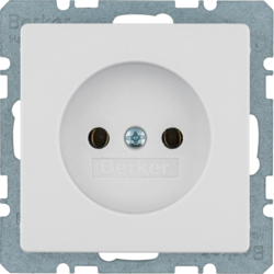 6161036082 Socket outlet without earthing contact Berker Q.1/Q.3/Q.7/Q.9