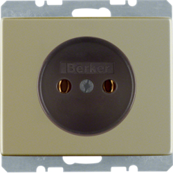 6161140001 Socket outlet without earthing contact with screw terminals,  Berker Arsys,  light bronze matt,  aluminium lacquered