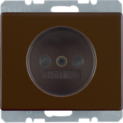 6161150001 Socket outlet without earthing contact with screw terminals,  Berker Arsys,  brown glossy