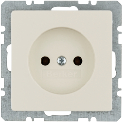 6167036082 Socket outlet without earthing contact Berker Q.1/Q.3/Q.7/Q.9