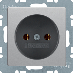 6167036084 Socket outlet without earthing contact Berker Q.1/Q.3/Q.7/Q.9