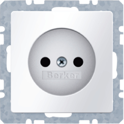6167036089 Socket outlet without earthing contact polar white velvety