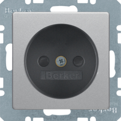 6167336084 Socket outlet without earthing contact with enhanced touch protection,  Berker Q.1/Q.3/Q.7/Q.9