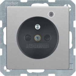 6765096084 with enhanced touch protection,  Screw-in lift terminals,  Berker Q.1/Q.3