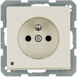 6765106082 enhanced contact protection,  Screw-in lift terminals,  Berker Q.1/Q.3
