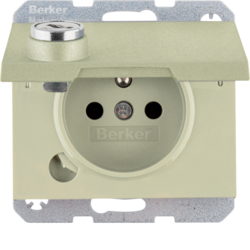 6765117001 with lock - differing lockings,  with screw-in lift terminals,  Berker K.5, bronze,  aluminium,  anodised