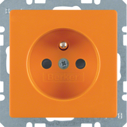 6765766014 Socket outlet with earthing pin with enhanced touch protection,  with screw-in lift terminals,  orange velvety