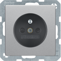 6765766084 Socket outlet with earthing pin with enhanced touch protection,  with screw-in lift terminals,  Berker Q.1/Q.3/Q.7/Q.9