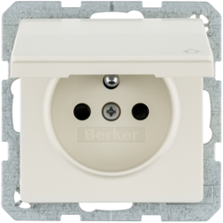 6765836082 with enhanced touch protection,  with screw-in lift terminals,  Berker Q.1/Q.3