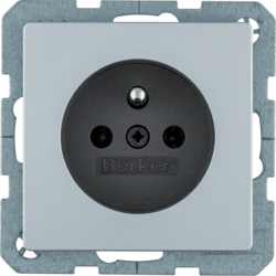 6768766074 Socket outlet with earthing pin with enhanced touch protection,  Berker Q.1/Q.3/Q.7/Q.9