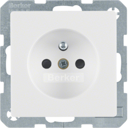 6768766089 Socket outlet with earthing pin with enhanced touch protection,  polar white velvety