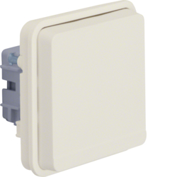 6768803512 Socket outlet insert with earthing pin and hinged cover surface-mounted/flush-mounted with enhanced touch protection,  Berker W.1, polar white matt