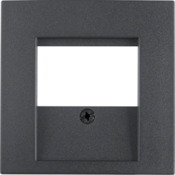 6810331606 Centre plate with TDO cut-out anthracite,  matt